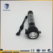 Solar powered rechargeable led flashlight