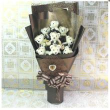 Großhandel Kleiner Teddybär Angefüllter Plüsch-Spielzeug-Blumenstrauß für Geschenk-Förderung