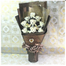 Wholesale Small Teddy Bear Stuffed Plush Toy Bouquet for Gifts Promotion