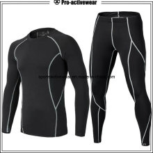 New Style Men Compression Shirt Desporto Fitness Atlético Manga Longa Gym Wear
