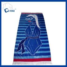 Pure Cotton Tassels Beach Towel (QHB67735)