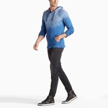 Custom design hooded crewneck sweatshirt for men