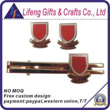 Custom Metal Red Epola Tie Bar