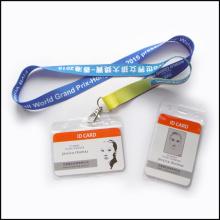 Kundengebundener Logo-Plastikname / Identifikations-Karten-Abzeichen-Spulen-Halter-kundenspezifische Abzugsleine (NLC001)