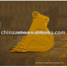 Low Price replacement parts hydraulic excavator bucket types manufacturer for CAT 325 with volume pin sizes