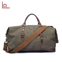 China Supplier Leather Duffle Bag Travel Canvas Foldable Duffle Bag