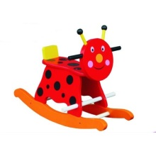 Cute Wooden Baby Chair Lady Bird Rocker for Kids and Children