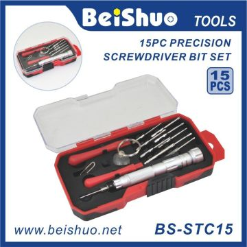 15 PCS S2 Alu Stahl Schraubendreher Bit Set
