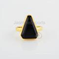Черный Оникс Камень Позолоченные Стерлингового Серебра Дизайнер Ювелирных Изделий