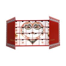 Diseño personalizado de lujo, embalaje de regalo, cartón, calendario de adviento, papel, christmasbox