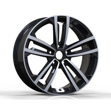 Casting VW Car Wheel Replica 19X8 Nero opaco