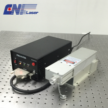 257 nm ultravioletter gütegeschalteter Laser