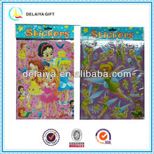 Lovely cartoon characters stickers with gilt-edge for kids
