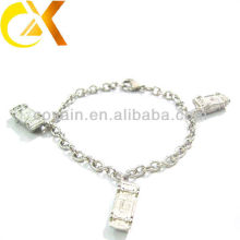 stainless steel jewelry bracelet with car pendant for lovely girl