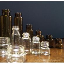 15ml en verre transparent Mini tubulaire fioles pour l'emballage de la pilule