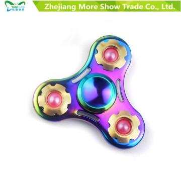 Venta al por mayor Aleación de Metal EDC Hand Fidget Spinner High Speed Focus Toy