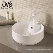 fregadero del lavabo del lavabo superior de tabla de cerámica