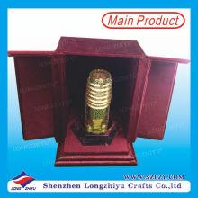 Custom UAE Metal Trophy Acrílico base caja de terciopelo