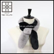 2015 New design Double Color Faux Fur Scarf