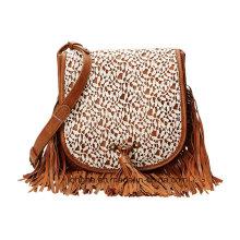 Designer Front Fringe Lace Fashion Crossbody Bag (ZXS0058)