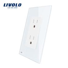 Livolo US Standard Prise de courant murale, 15A, Powerpoints muraux avec fiche VL-C5C2US-11