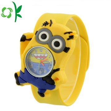 Cute Yellow Silicone Slap Digital Watch Gelang Lembut