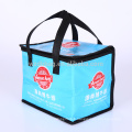 Reusable Large Size Collapsible Non Woven Lamination Insulated Lunch Box Cooler Bag For Snack, Picnic, Promotion, Grocery