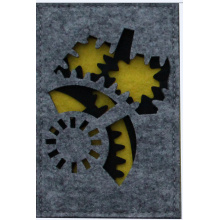 Gear shape Cutout Felt file  holder