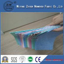 Tissu non-tissé en gros de tissu de polyester de tissu de polyester de Spunlace de non-tissé stratifié