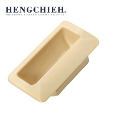 Beige Plastic Flush Pull Handle