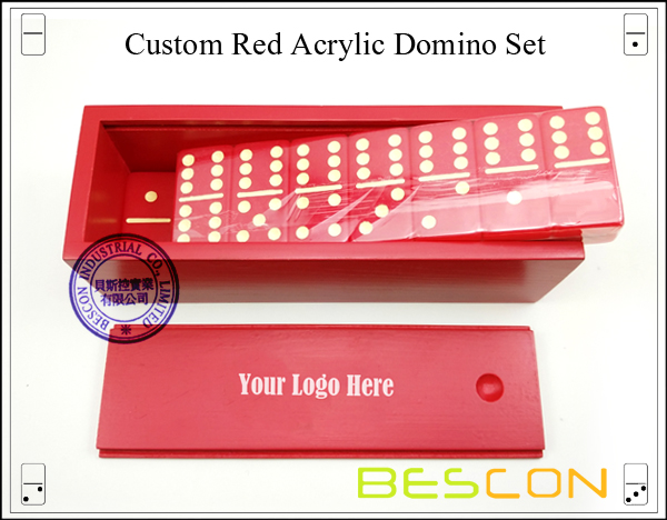 Red Acrylic Domino Set-3