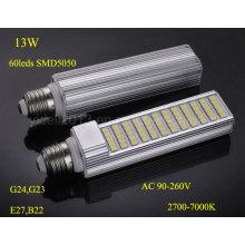 Nuevo Dimmable 13W Rotatable PLC E27 G24 LED Bombilla Luz de la lámpara
