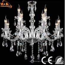 AC95-265V Kronleuchter Kerze Form Luxus Kristall Lampe