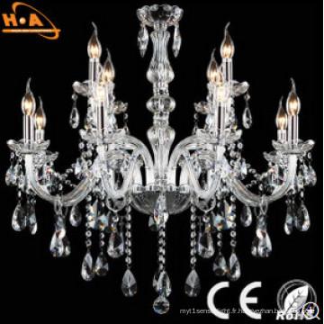 Lampe à bougie classique en cristal
