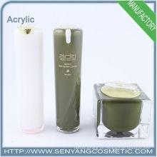 2015 nuevos envases cosméticos botella de crema botellas de acrílico embalaje de acrílico