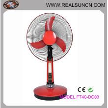 """Ventilador de mesa recarregável de ventilador de 16 """"DC, ventilador solar"""
