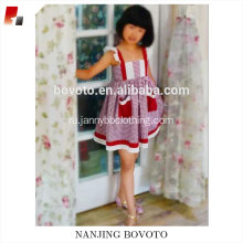 Girl summer boutique cotton red&white check dress