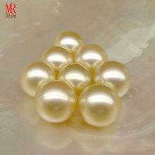 Pérolas de ouro genuíno de ouro de Southsea de 11mm