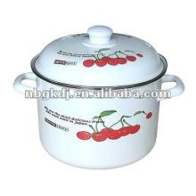 enamel kitchenware bakelite knob and steel handle