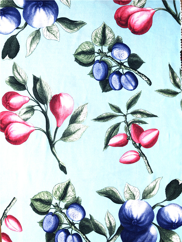 single faced printed fabric