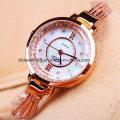 Мода Lady Gold Ювелирные часы с движением Японии