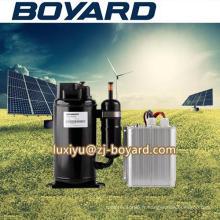 Compresseur de réfrigération de c.c 12v haute qualité r134a 72V horizontal 10000BTU avec système de prix d'usine
