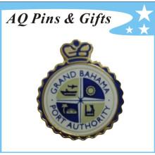 Metal Police Badge com Cloisonne Trading Pin (badge-022)