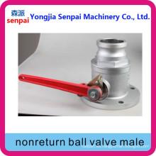 Válvula de bola de una dirección de una dirección sin retorno macho