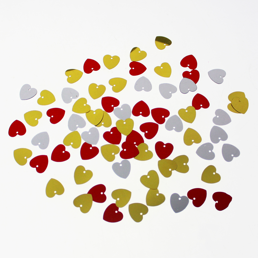 YColorful Heart Shaped Loose Sequins