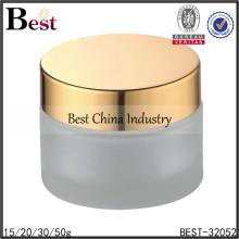 cosmetic cream glass jar with golden cap,cream lotion glass jar