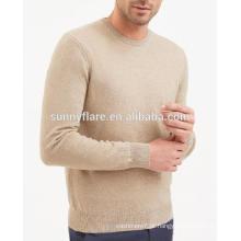 Camisola de cashmere ajustada para homens quentes e quentes