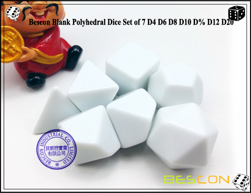 Blank Polyhedral Dice (3)