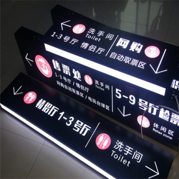Personalizado direccional Hanging LED Light Box Signs
