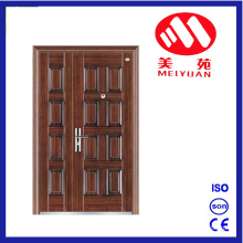Fashion Style Cheap Double Doors Steel Iron Door for Outside